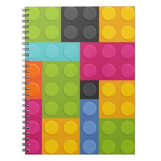 pink building blocks notebooks