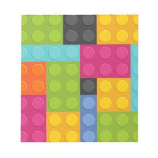 pink building blocks notepad