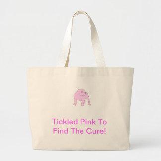 Pink Bulldog Tote Bags