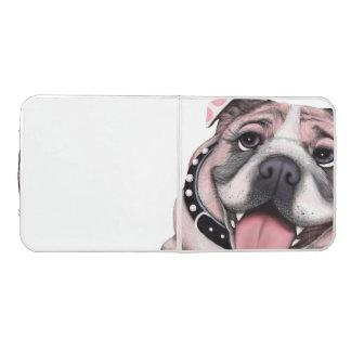 Pink Bulldog Dog Ping Pong Table