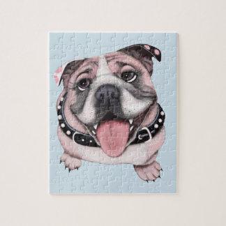 Pink Bulldog Puzzle