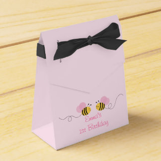 Pink Bumble Bee Birthday Favour Box