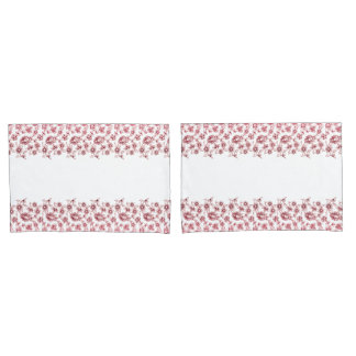 Pink Bunches of Flowers Pillowcase