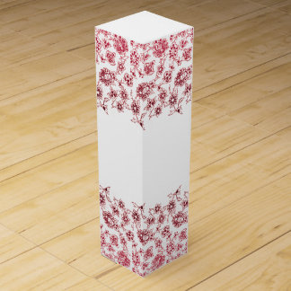 Pink Bunches of Flowers Wine Gift Box