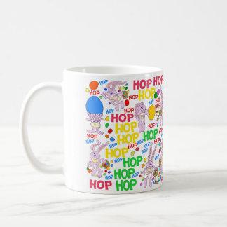 Pink bunnies, on a mug. coffee mug