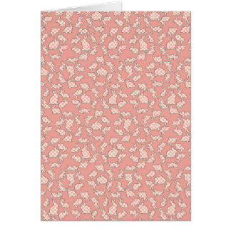 Pink Bunnies Pattern Greeting Cards