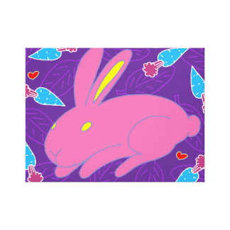 Pink Bunny Canvas Print
