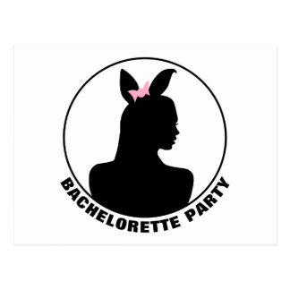 Pink Bunny Girl Bachelorette Party Invitation Postcard