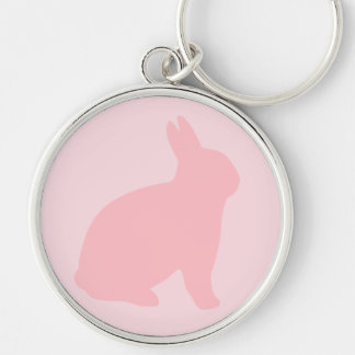 Pink Bunny on Pink Key Ring