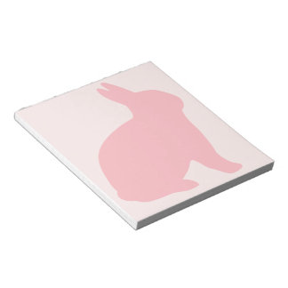 Pink Bunny on Pink Notepad