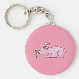 Pink Bunny Rabbit Key Chain