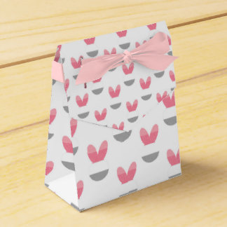 Pink Bunny Stripes Party Favour Box