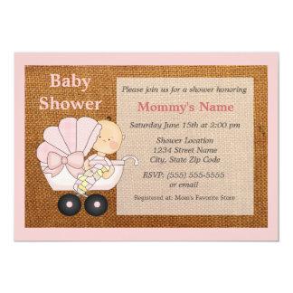 burlap baby shower invitations announcements