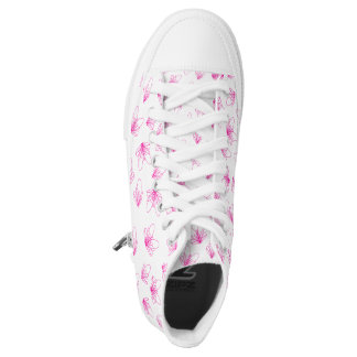 Pink Butterflies Printed Shoes