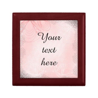 Pink butterflies vintage design small square gift box