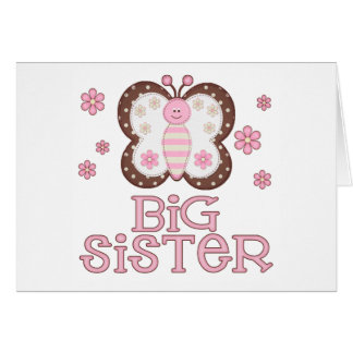 Pink Butterfly Big Sister Card
