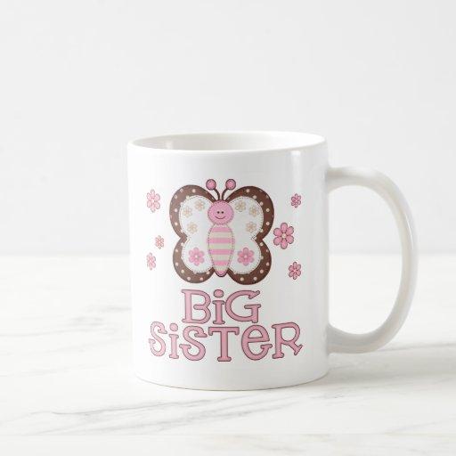 Pink Butterfly Big Sister Coffee Mug