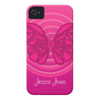 Pink butterfly BlackBerry Bold Case