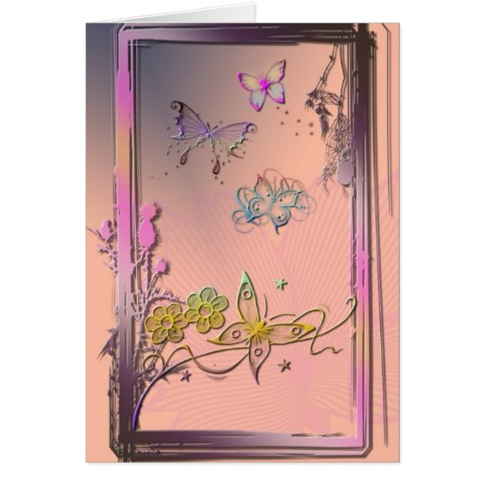 Pink Butterfly Card