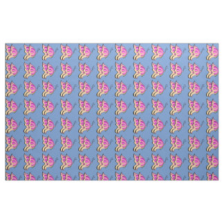 Pink Butterfly fabric pattern