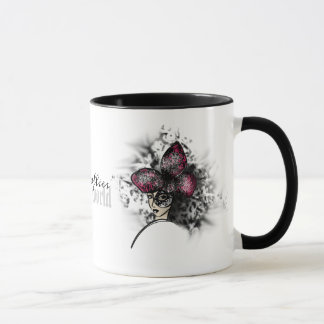 Pink Butterfly Fashionillustration Gothic Style Mug