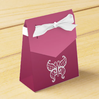 Pink Butterfly Favor Box Wedding Favour Box