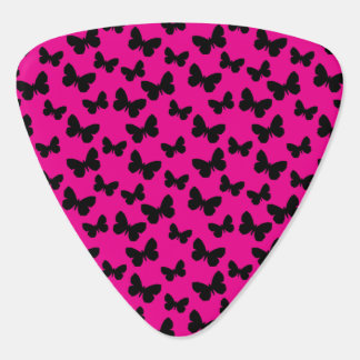 Pink Butterfly Guitar Pick
