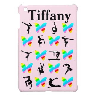 PINK BUTTERFLY GYMNAST PERSONALIZED IPAD MINI CASE