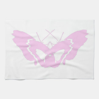 pink butterfly heart love hand towel