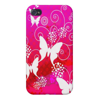 Pink Butterfly IPod Touch case iPhone 4 Case