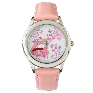 pink butterfly kisses watch