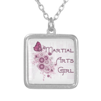 Pink Butterfly Martial Arts Girl Necklace