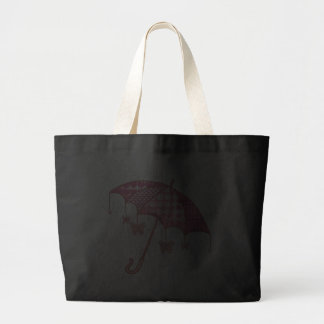 Pink Butterfly Parasol Canvas Bag
