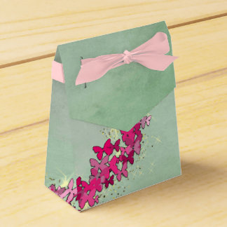 Pink Butterfly Princess Favor Box Wedding Favour Boxes