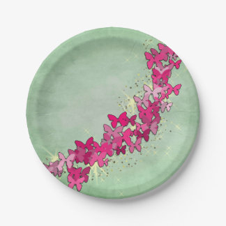 Pink Butterfly Princess Paper Plates