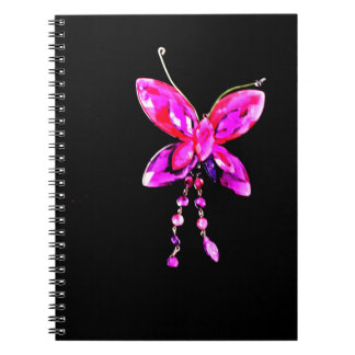 Pink Butterfly Prism Notebook