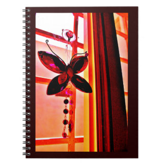 Pink Butterfly Prism Notebooks