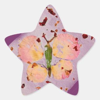 Pink Butterfly purple star sticker, envelop sealer Star Sticker