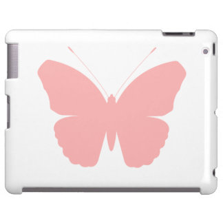 Pink Butterfly Silhouette Design