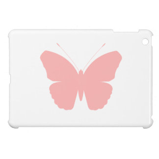Pink Butterfly Silhouette Design iPad Mini Covers