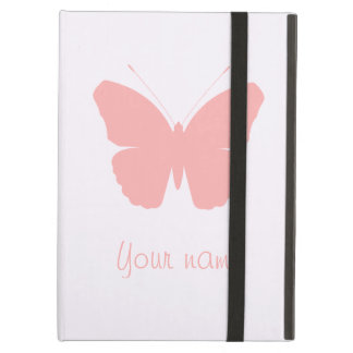 Pink Butterfly Silhouette Design (Personalised) iPad Air Cases