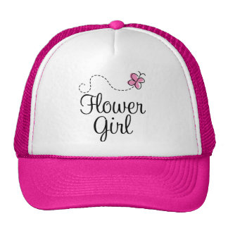 Pink Butterfly Wedding Party Flowergirl Cap Hat