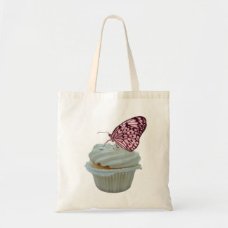 Pink Butterfly with Cupcake Design Bag