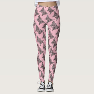 pink butterflys leggings