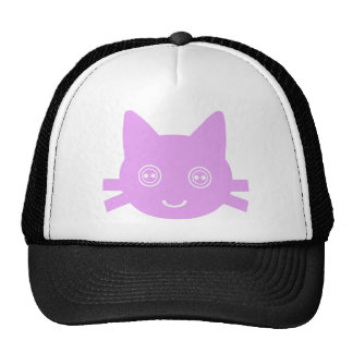 Pink Button Eyed Cute Happy Kitty Cat Hats