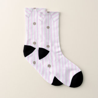 Pink Button-Up Socks