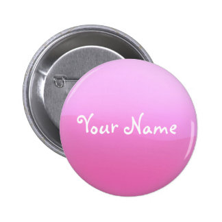 Pink Button with Your Name