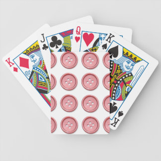 Pink Buttons on White Bicycle Playing Cards