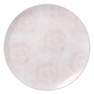 Pink Cabbage Rose Plate