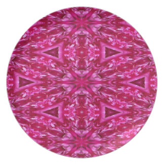 pink cabbage rose triangles  5072 plate